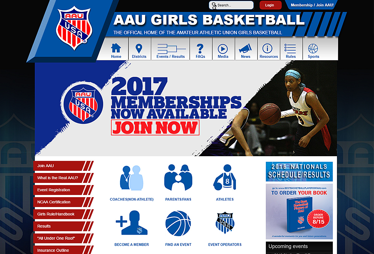 AAU Girls Basketball - New Website