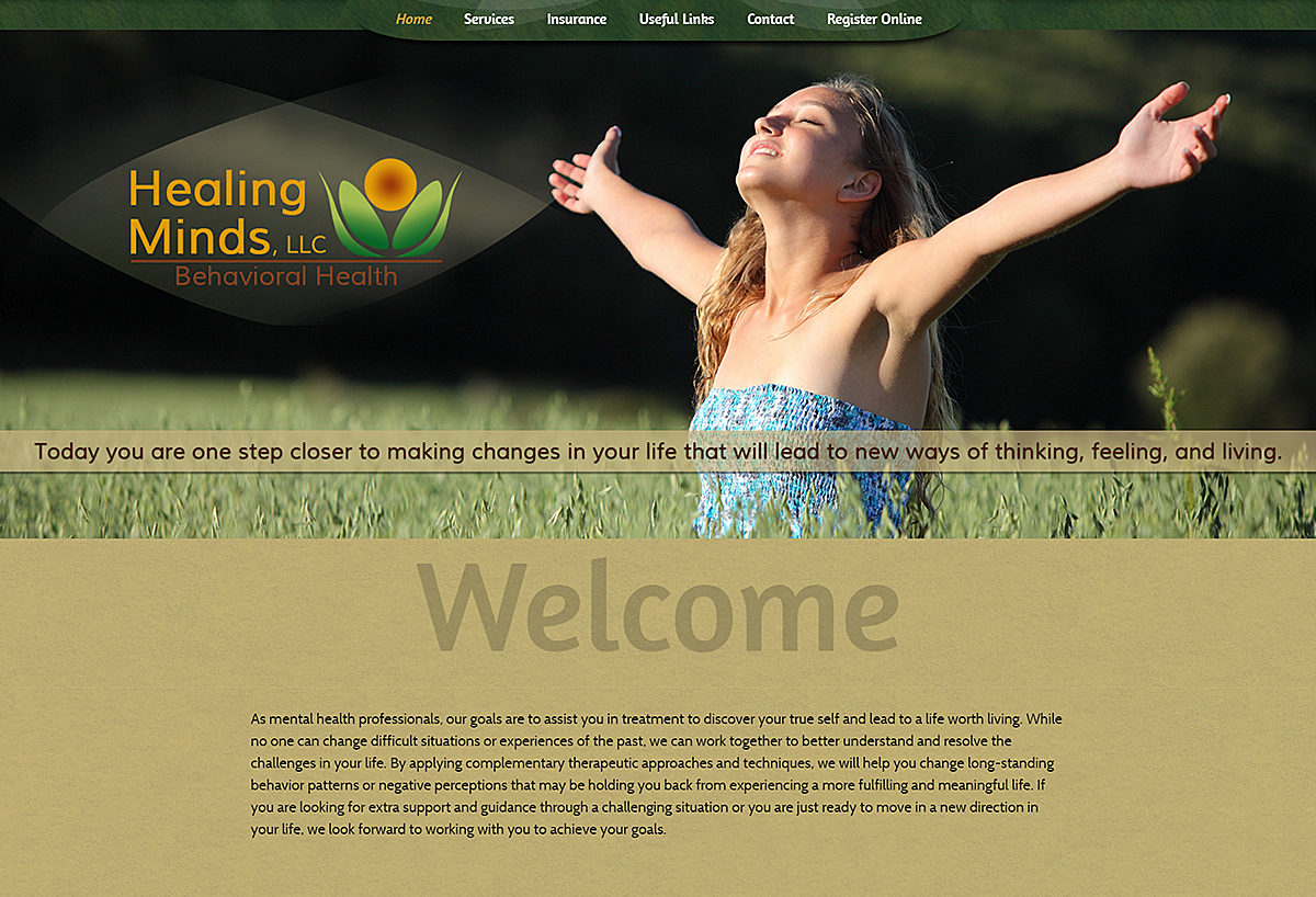 Custom Website - Healing Minds