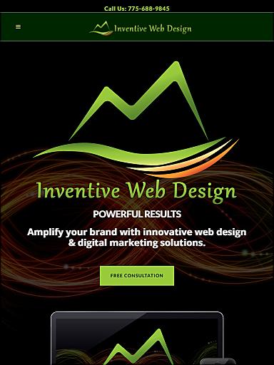 Responsive Website - iPad - Inventive Web Design