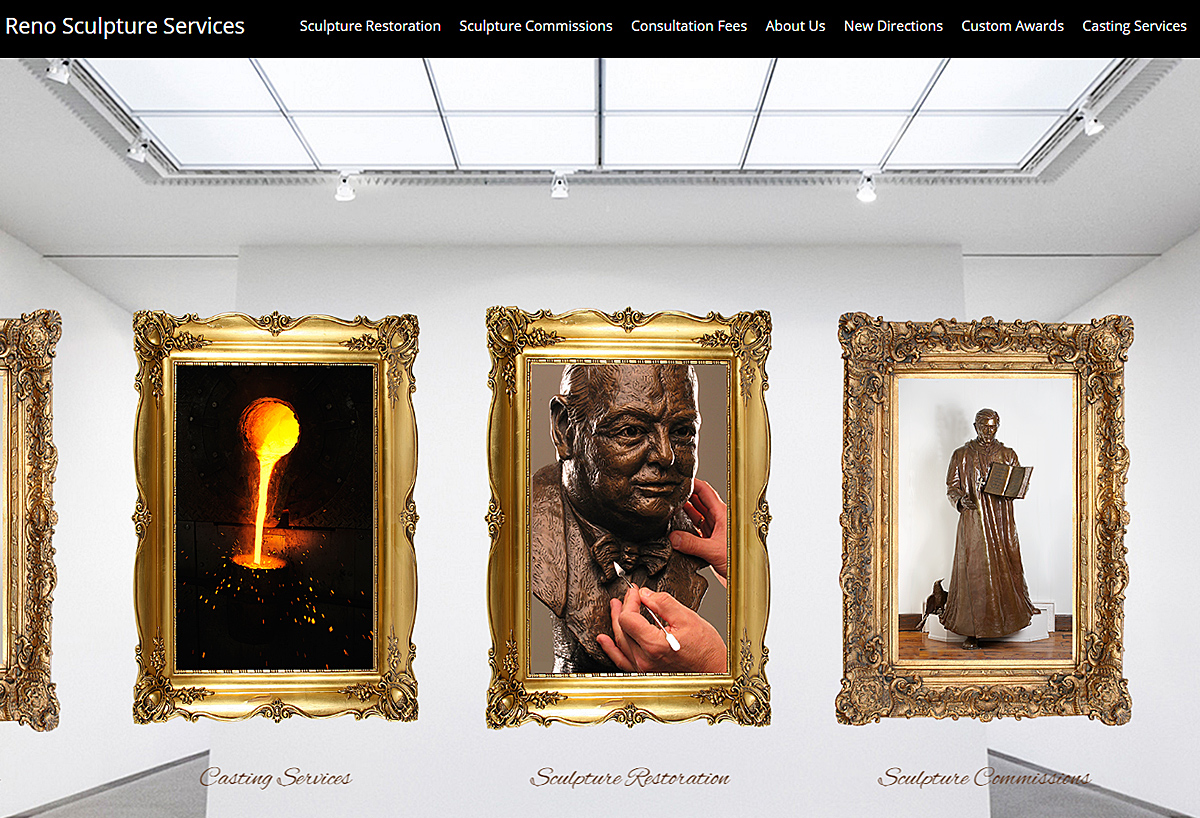 New Mobile Friendly Website - Reno Sculpture Services