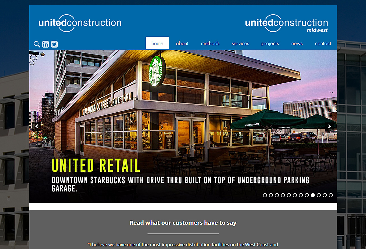 New Responsive Website - United Contruction