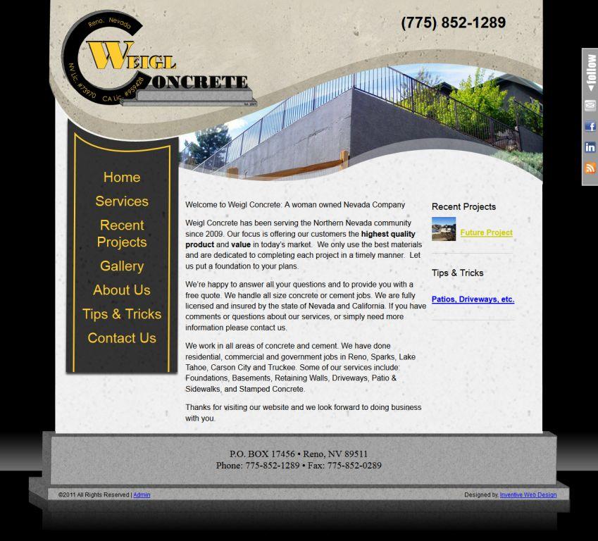 New Weigl Concrete Website