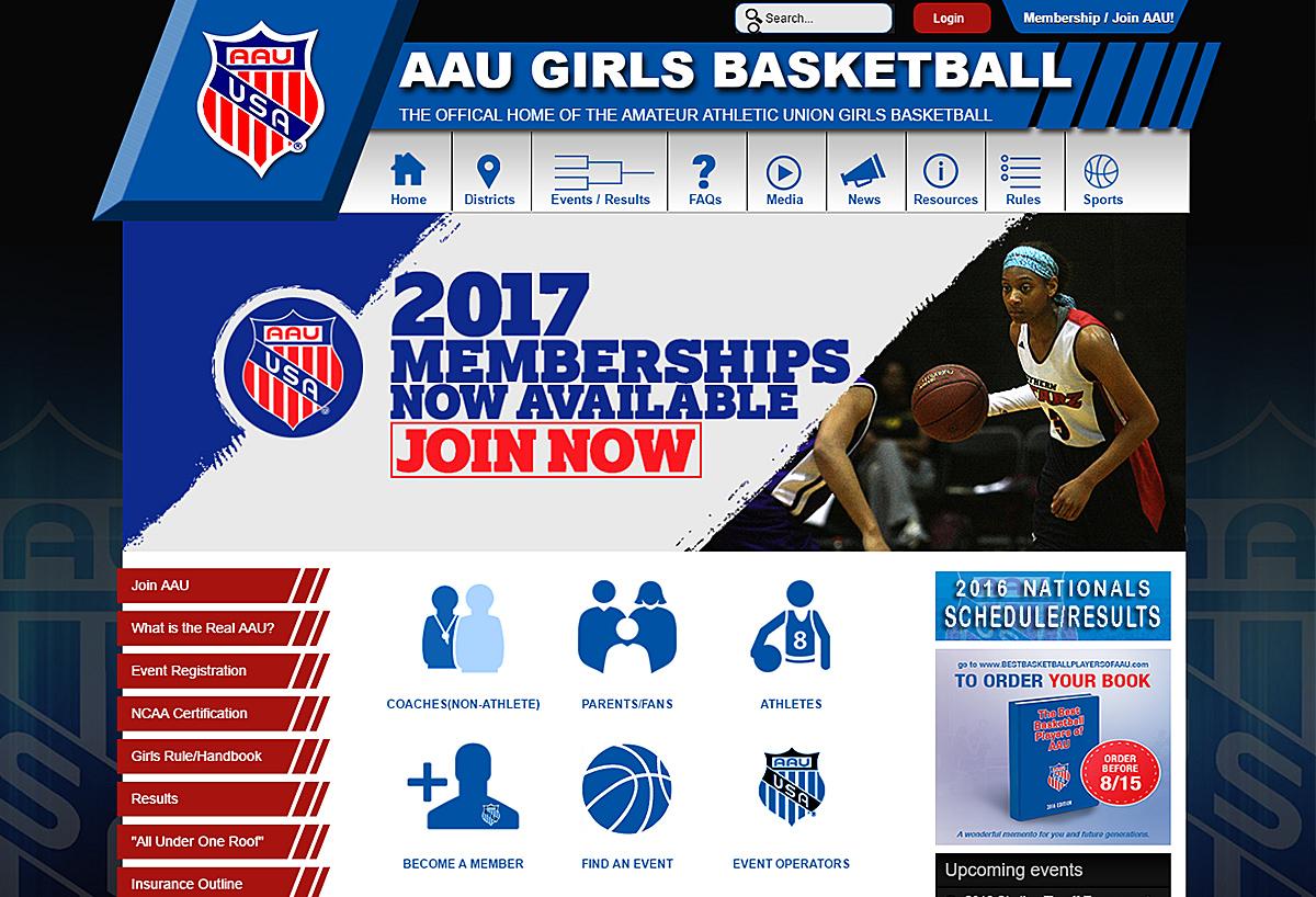 AAU Girls Basketball - New Website