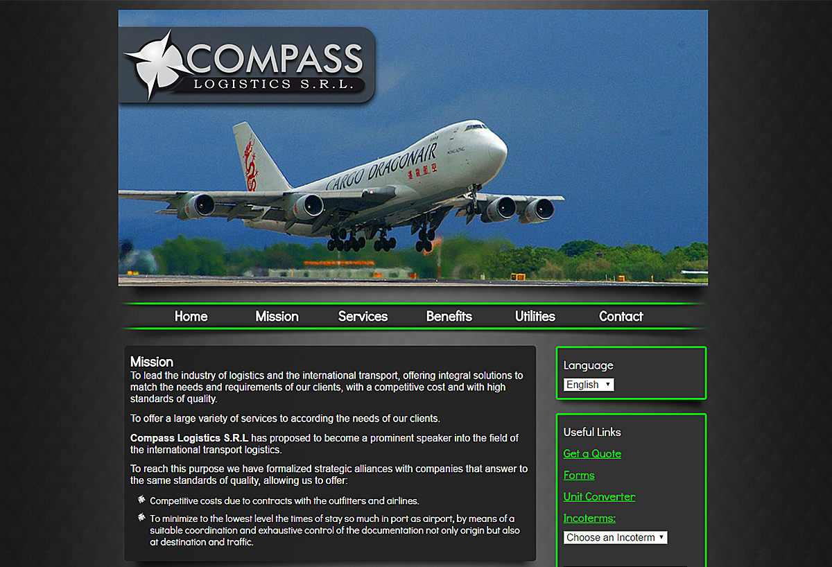 New Custom Website - Compass Logistics