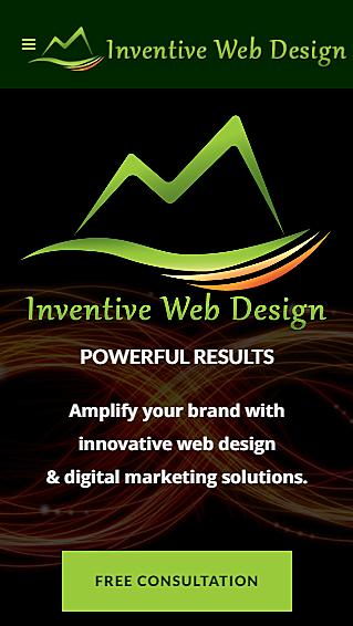 Mobile Website - iPhone 5 - Inventive Web Design