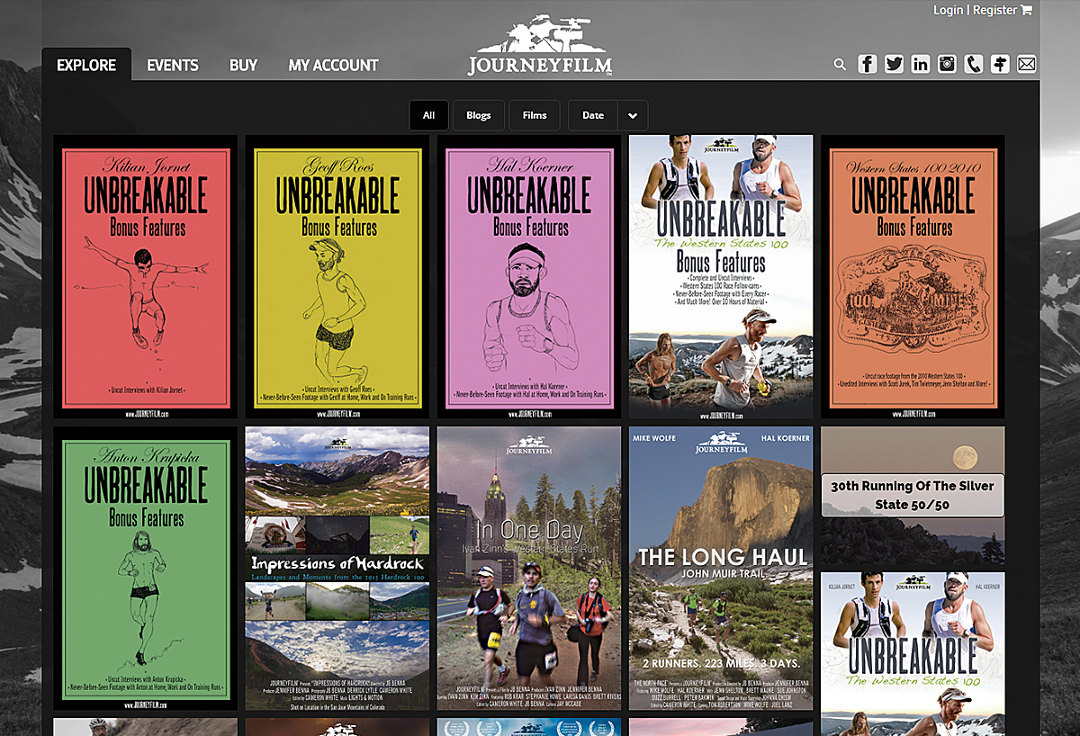 eCommerce Website - Journeyfilm