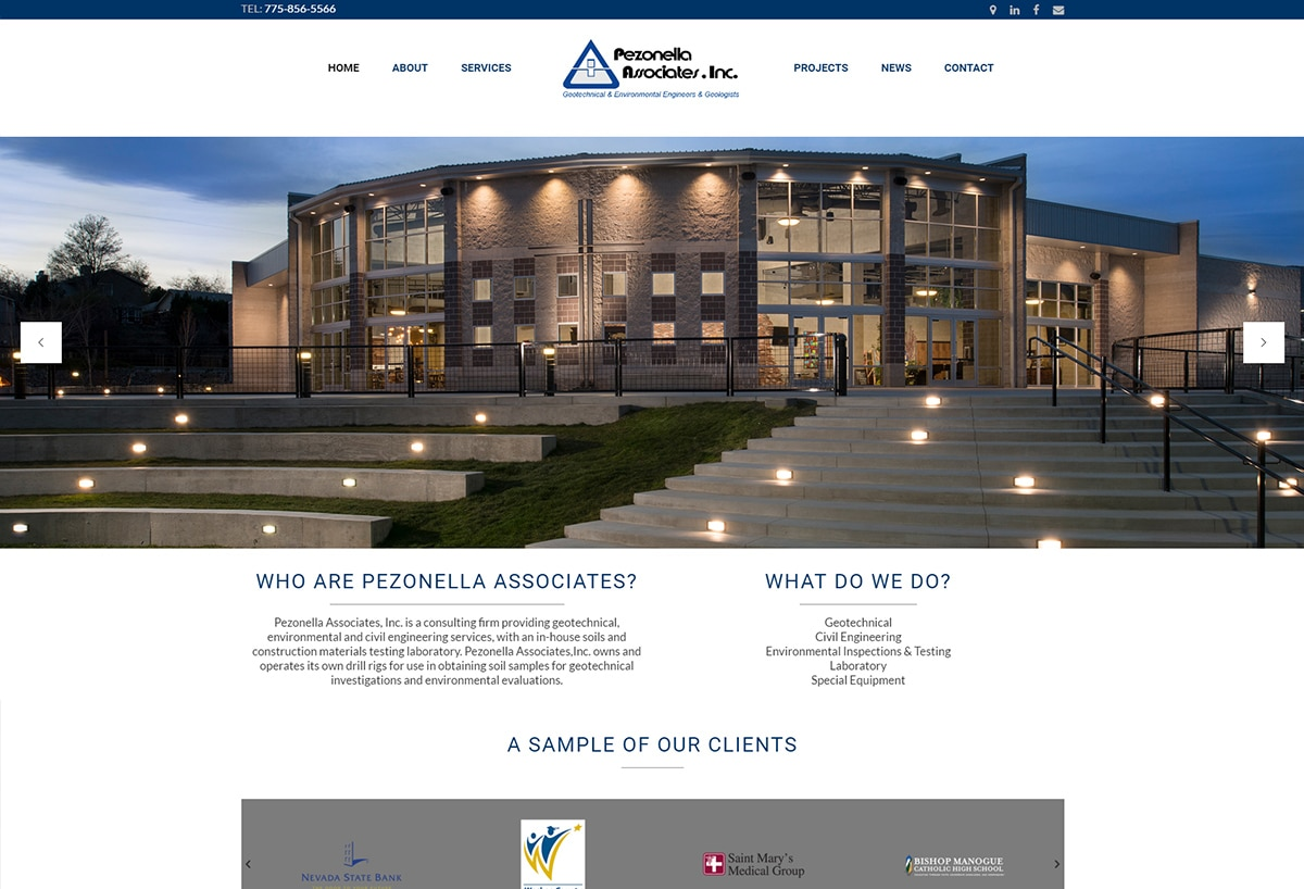 Pezonella Associates - Responsive Website